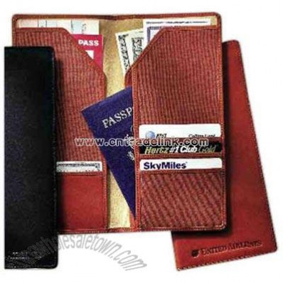 Cowhide - Bi-fold leather document holder