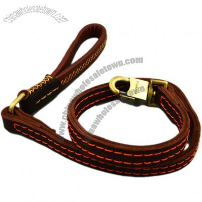 Cowhide Large Dog Leash