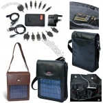 Cowhide Leather Solar Casual Bag for Mobile Phone and NDSL Apple iPad/iPhone/iPod