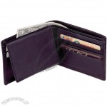 Cowhide Napa Leather Billfold Wallet with I.D. flap