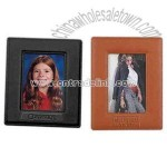 Cowhide leather easel photo frame