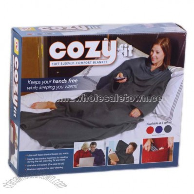 Cozy Cuddle Blanket With Sleeve