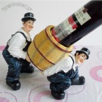 Creative Bartender Shaped Resin Wine Bottle Holder
