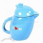 Creative Bird-shaped Porcelain Mug with Decal