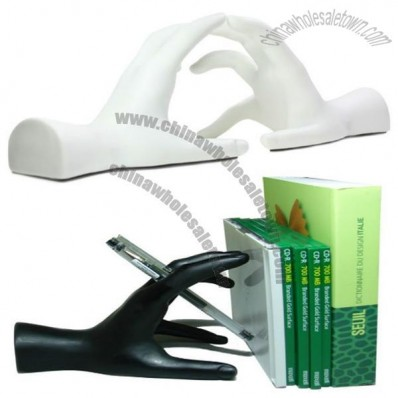 Creative PVC Bookend - Hand Shaped