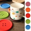 Creative Silicone Button Coasters