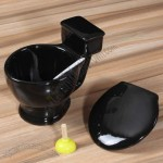 Creative Toilet Cup Ceramic Mug with Lid and Spoon