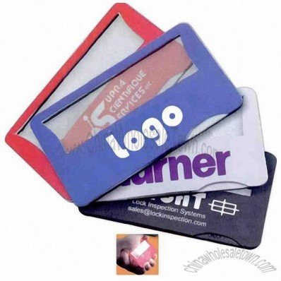 Credit Card Magnifier with light