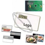Credit Card Size LCD Alarm Clock with Metal Stand and Magnetic Back