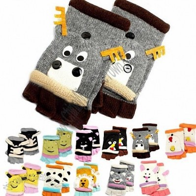 Critter Animal Gloves - Hand Flip Top - 11 Styles