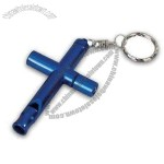 Cross Keychain with Whistle