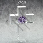 Cross Shaped Acrylic Award