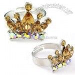 Crown Shape Cz Jewelry Ring