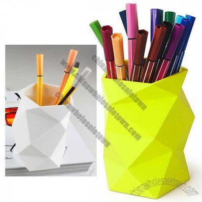 Crumpled Paper Style Pen Holder Stationery Organizer