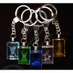 Crystal 3D Laser Key Holder