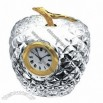 Crystal Apple Clock