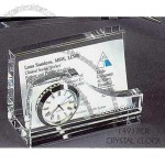 Crystal Clock Business Card Holder