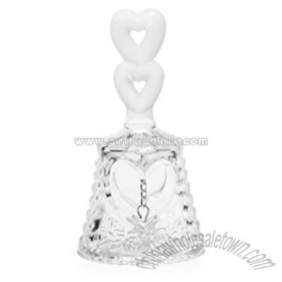 Crystal Double Heart Bell