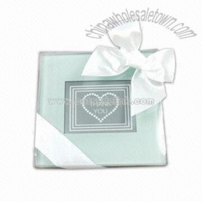 Crystal Glass Coaster For Wedding
