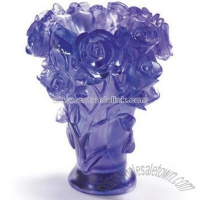 Crystal Glass Liuli Vase -Rose Vase