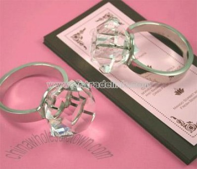 Crystal Glass Napkin Ring (Crystal Decoration Craft)