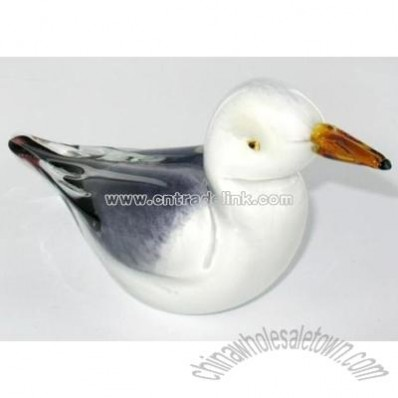 Crystal Glass Seagull Statue Paper Weight