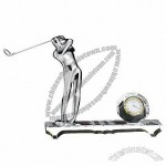 Crystal Golf Table Clock