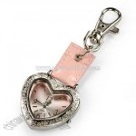 Crystal Heart Keychain Watch