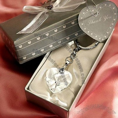 Crystal Heart Shaped Key Chains