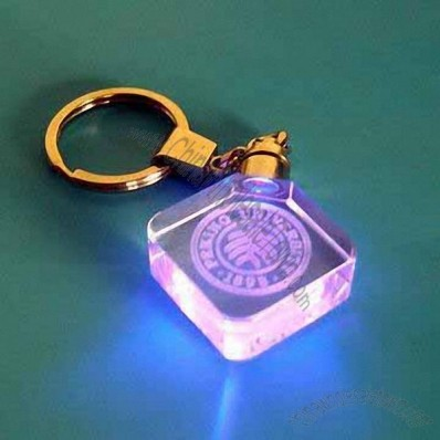 Crystal Keychain With LED Light And 3D Laser Engraving