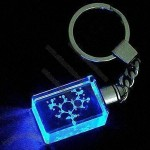 Crystal Keychain with 3-D Laser Image