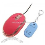 Crystal Red USB Computer Auto Lock / Unlock Optical Mouse With Wireless Key