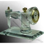 Crystal Sewing Machine Clock