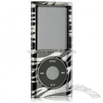 Crystal Silver Zebra-stripe Case for Apple iPod Nano 4G