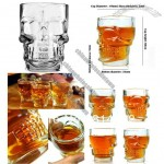 Crystal Skull Head Vodka Whiskey Shot Glass Cup Home Bar Drinking Ware