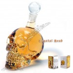 Crystal Skull Skeleton Head Vodka Wine Bottle