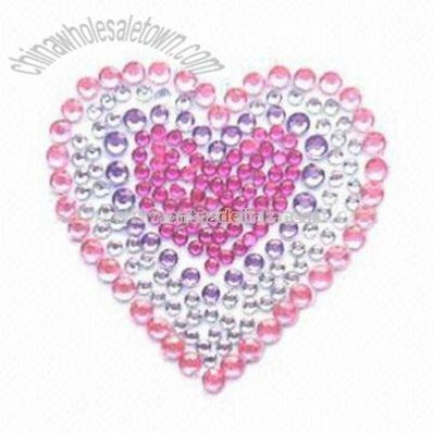 Crystal Tattoo and Rhinestone Sticker with Acrylic Beads Decoration