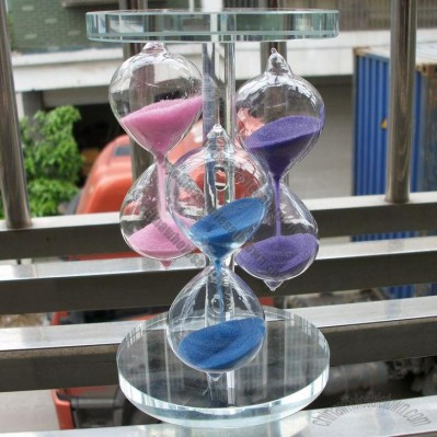 Crystal Three Color Sand Timer