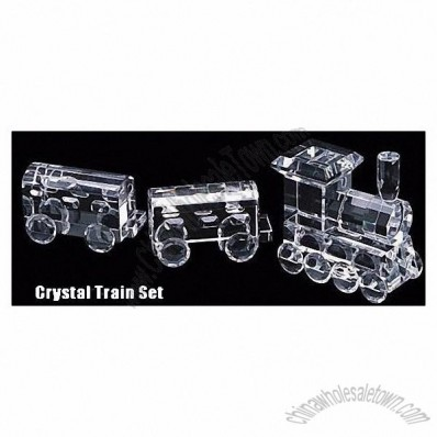Crystal Train Locomotive In Gift Box