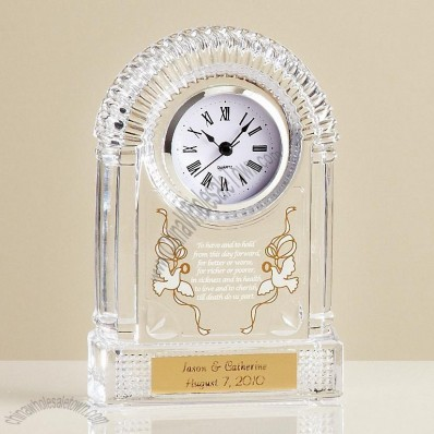 Crystal Wedding Clock