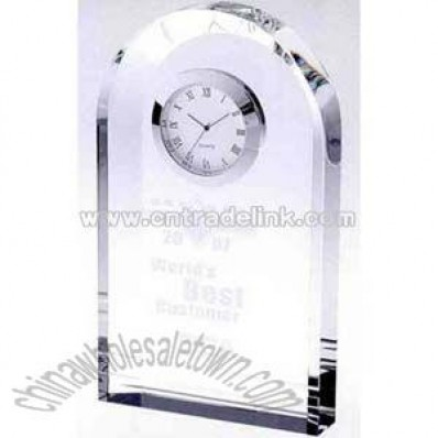Crystal award clock