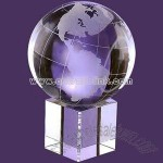 Crystal award globe