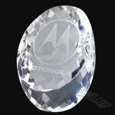 Crystal egg shape paperweight