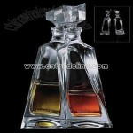 Crystal twin decanters