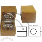 Cube 5g Bamboo Cosmetic Cream Container