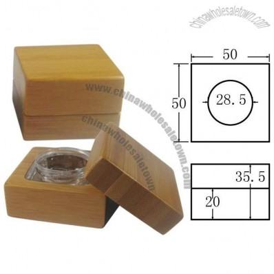 Cube 8g Bamboo Cosmetic Cream Container