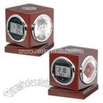 Cube shaped multi-function clock