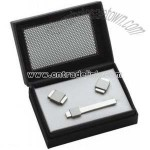 Cuff Links Tie Bar Set