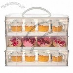 Cupcake Carrier, Durable Handle for Portability