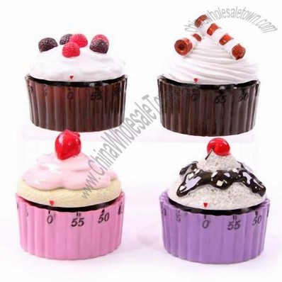 Cupcake Shaped Kitchen Timer